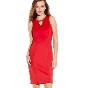VINCE CAMUTO RED Bodycon Dress w/Gold Hardware (6)